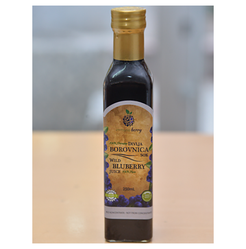 Hladno ceđeni sok od divlje borovnice slika 1